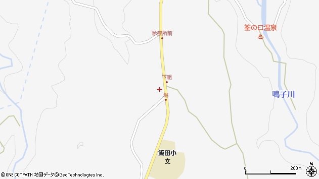 大分県玖珠郡九重町田野1548周辺の地図