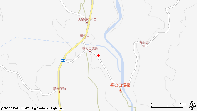 大分県玖珠郡九重町田野1410周辺の地図