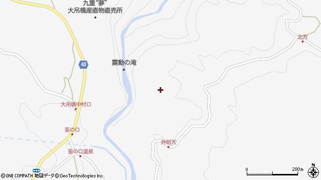 大分県玖珠郡九重町田野筌ノ口周辺の地図