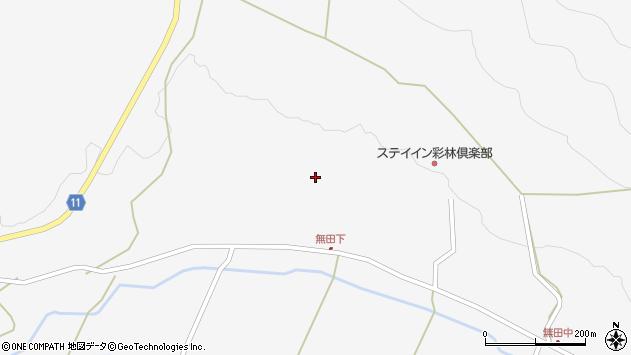 大分県玖珠郡九重町田野無田下周辺の地図
