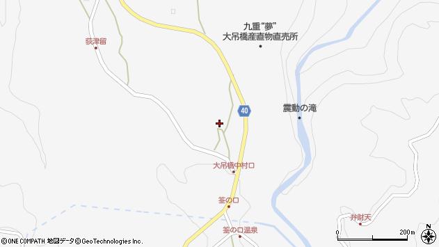 大分県玖珠郡九重町田野1163周辺の地図
