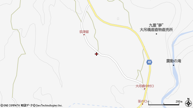 大分県玖珠郡九重町田野1147周辺の地図