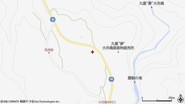 大分県玖珠郡九重町田野1172周辺の地図
