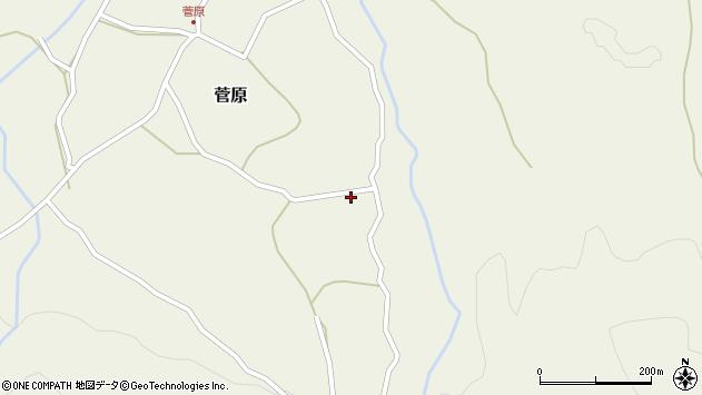 大分県玖珠郡九重町菅原92周辺の地図
