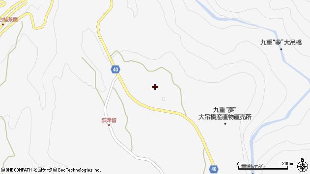 大分県玖珠郡九重町田野荻釣周辺の地図