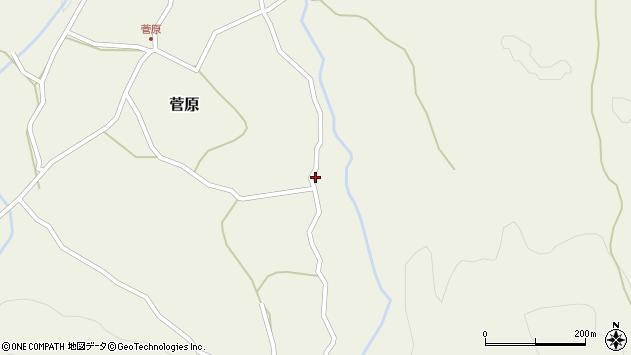 大分県玖珠郡九重町菅原89周辺の地図