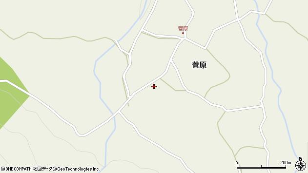 大分県玖珠郡九重町菅原493周辺の地図