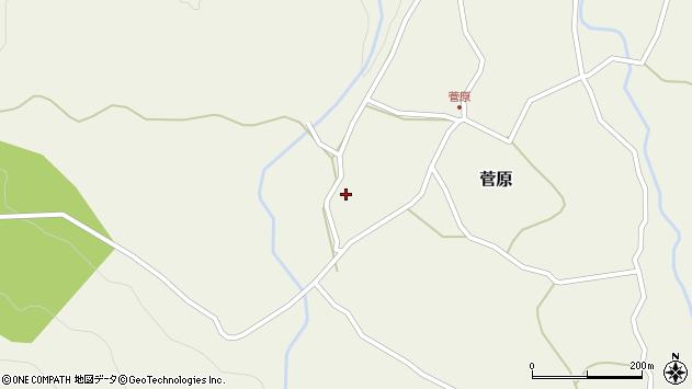 大分県玖珠郡九重町菅原484周辺の地図