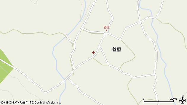 大分県玖珠郡九重町菅原468周辺の地図