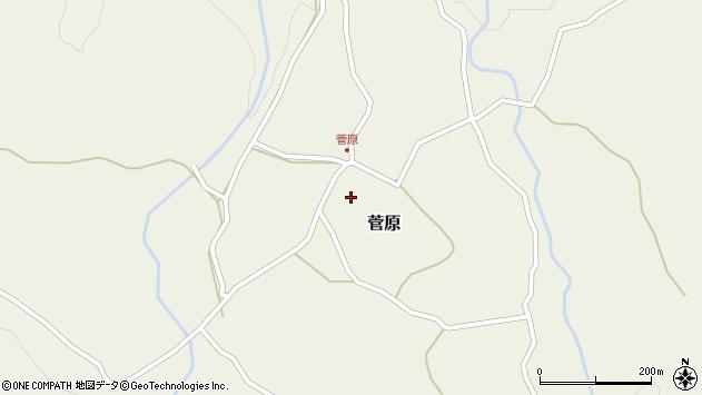 大分県玖珠郡九重町菅原412周辺の地図