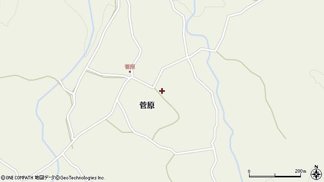 大分県玖珠郡九重町菅原157周辺の地図