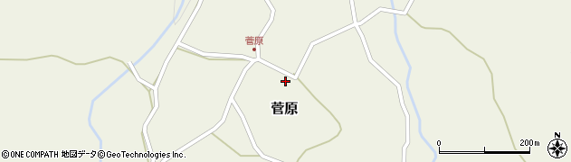 大分県玖珠郡九重町菅原410周辺の地図