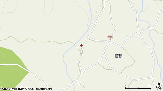 大分県玖珠郡九重町菅原457周辺の地図