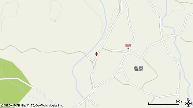 大分県玖珠郡九重町菅原455周辺の地図