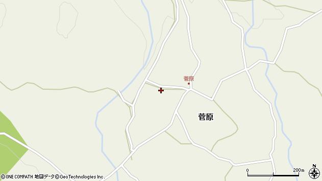 大分県玖珠郡九重町菅原420周辺の地図