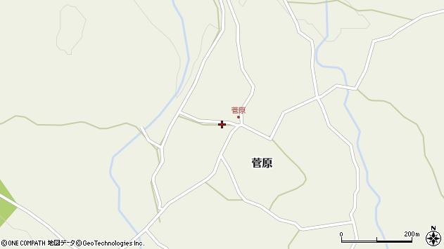 大分県玖珠郡九重町菅原418周辺の地図