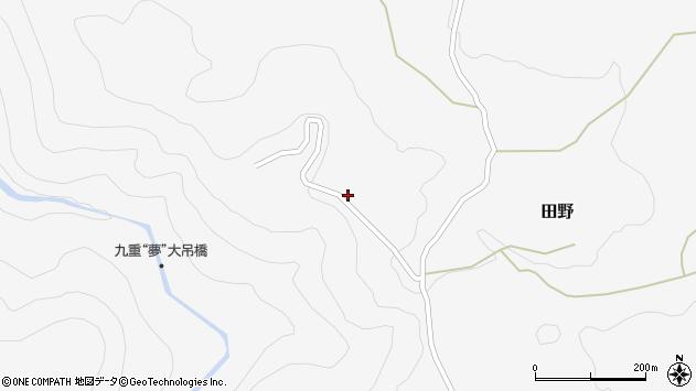 大分県玖珠郡九重町田野1988周辺の地図