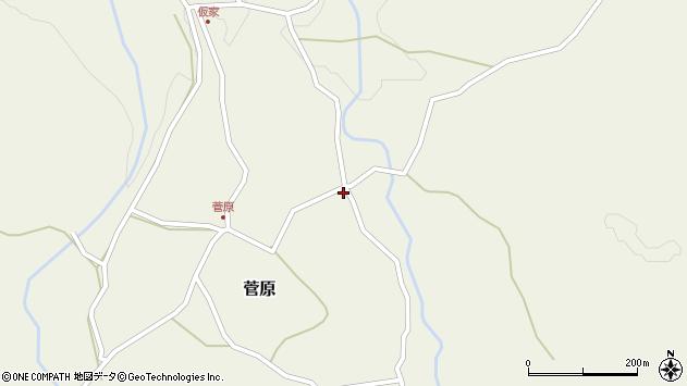 大分県玖珠郡九重町菅原169周辺の地図