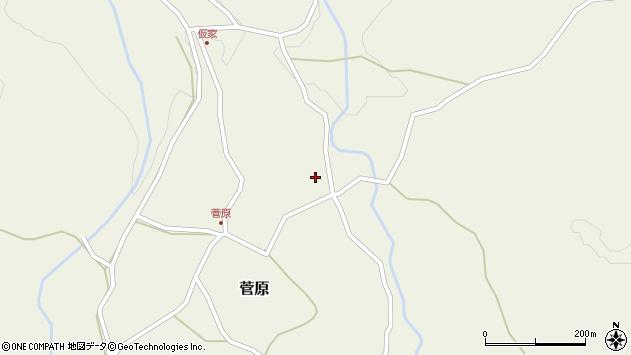 大分県玖珠郡九重町菅原392周辺の地図
