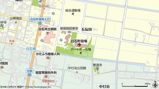 佐賀県杵島郡白石町周辺の地図