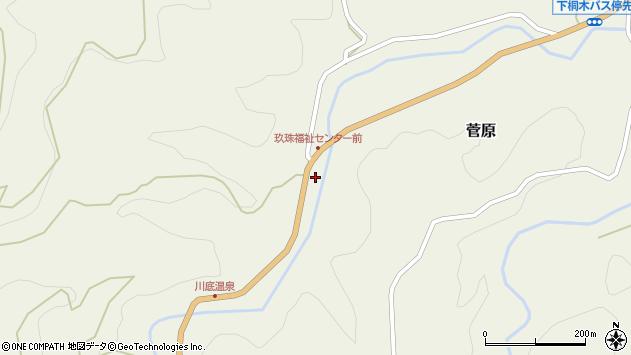 大分県玖珠郡九重町菅原1467周辺の地図