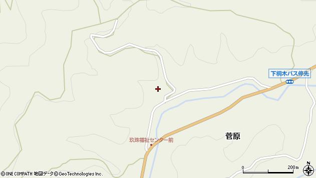 大分県玖珠郡九重町菅原1557周辺の地図