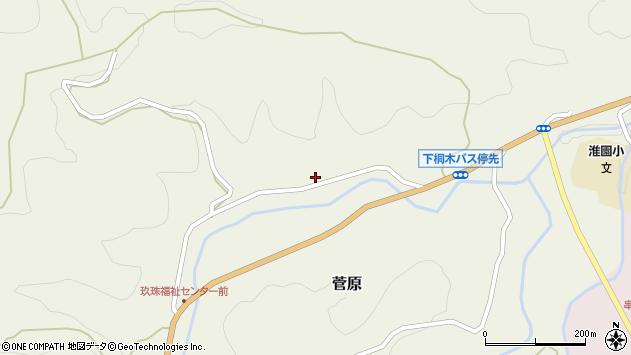 大分県玖珠郡九重町菅原1679周辺の地図