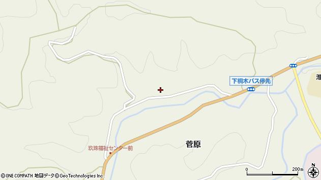 大分県玖珠郡九重町菅原1695周辺の地図
