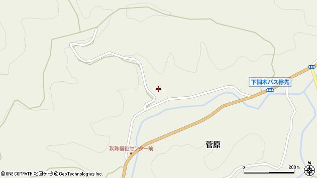 大分県玖珠郡九重町菅原1711周辺の地図