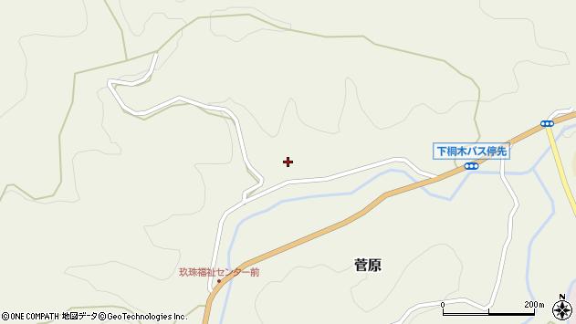 大分県玖珠郡九重町菅原1699周辺の地図