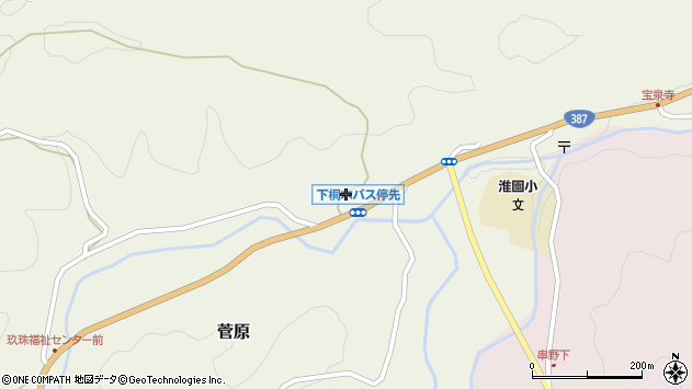 大分県玖珠郡九重町菅原1766周辺の地図
