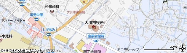 福岡県大川市周辺の地図