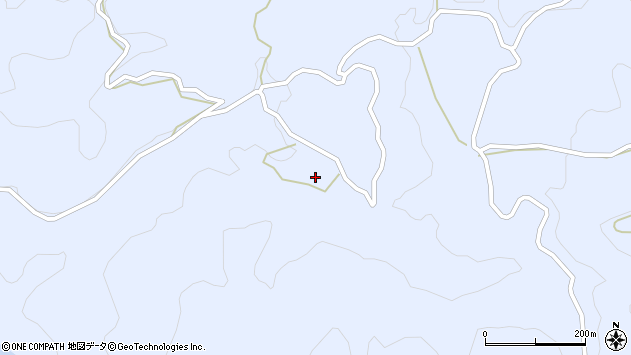 大分県玖珠郡九重町後野上1966周辺の地図