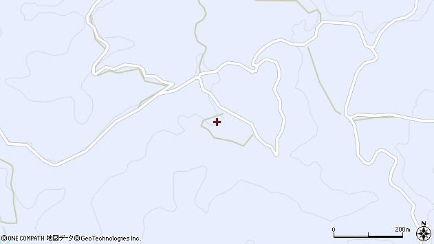 大分県玖珠郡九重町後野上1977周辺の地図