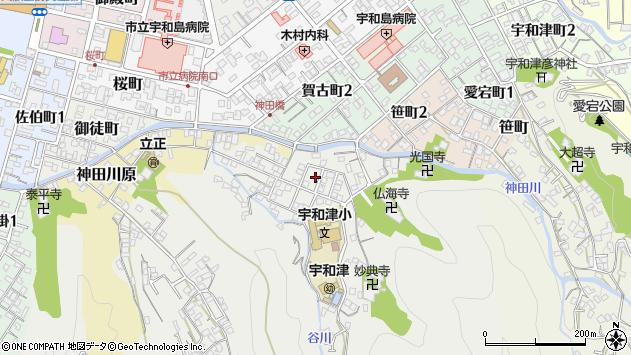 愛媛県宇和島市妙典寺前周辺の地図