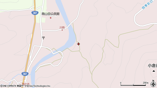 大分県玖珠郡九重町町田1327周辺の地図