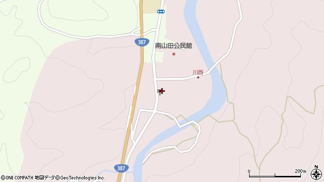 大分県玖珠郡九重町町田周辺の地図