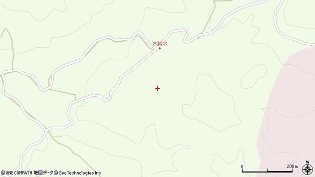 大分県玖珠郡九重町引治木納水周辺の地図