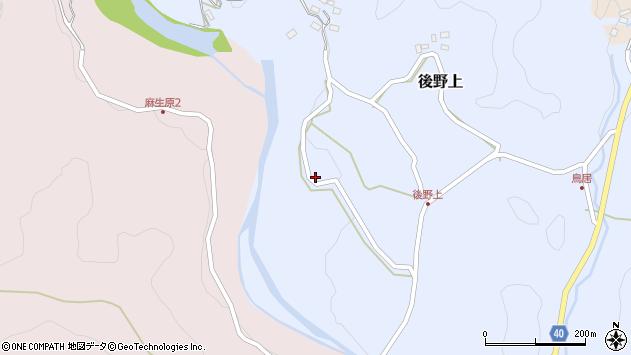 大分県玖珠郡九重町後野上368周辺の地図