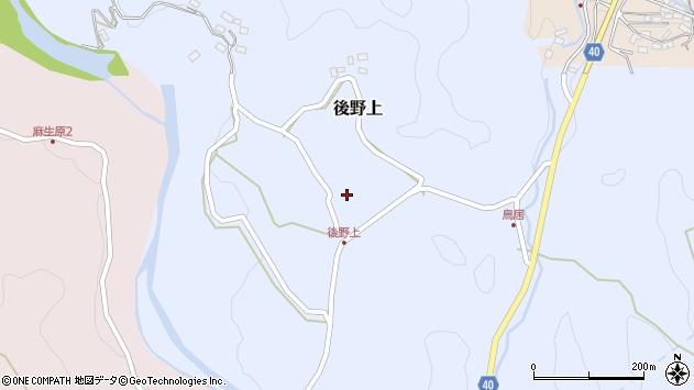 大分県玖珠郡九重町後野上385周辺の地図