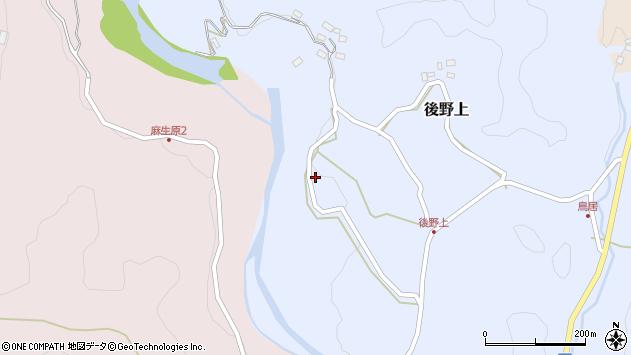 大分県玖珠郡九重町後野上371周辺の地図