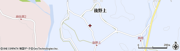 大分県玖珠郡九重町後野上379周辺の地図