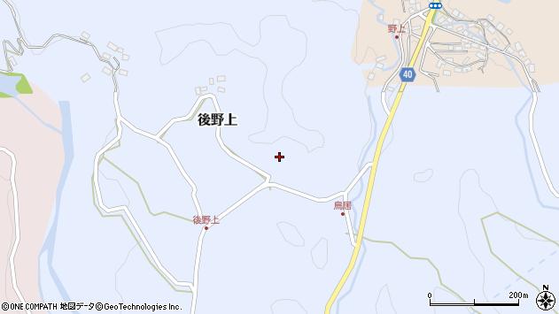 大分県玖珠郡九重町後野上280周辺の地図