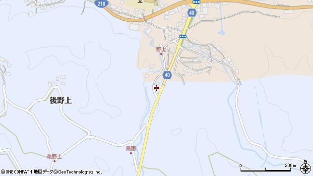 大分県玖珠郡九重町野上77周辺の地図