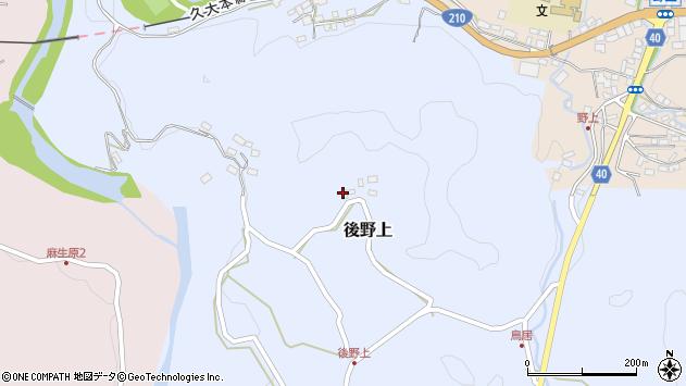 大分県玖珠郡九重町後野上425周辺の地図