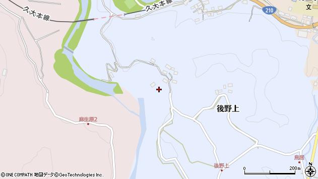大分県玖珠郡九重町後野上278周辺の地図
