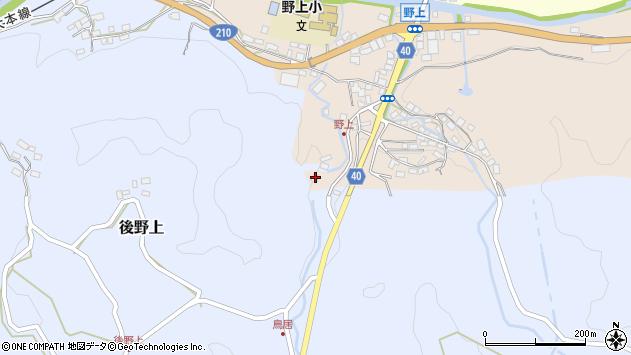 大分県玖珠郡九重町野上47周辺の地図