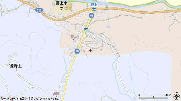 大分県玖珠郡九重町野上39周辺の地図