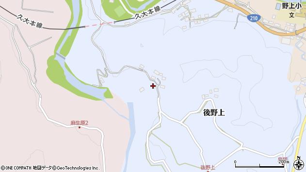 大分県玖珠郡九重町後野上274周辺の地図
