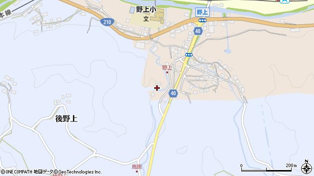 大分県玖珠郡九重町後野上485周辺の地図